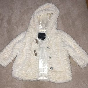 Other - Hooded Faux Fur Jacket